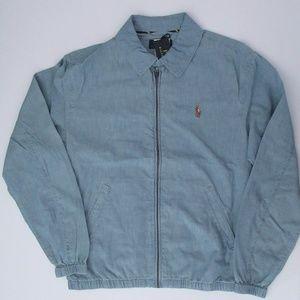 Ralph Lauren Bayport Chambray Windbreaker Jacket